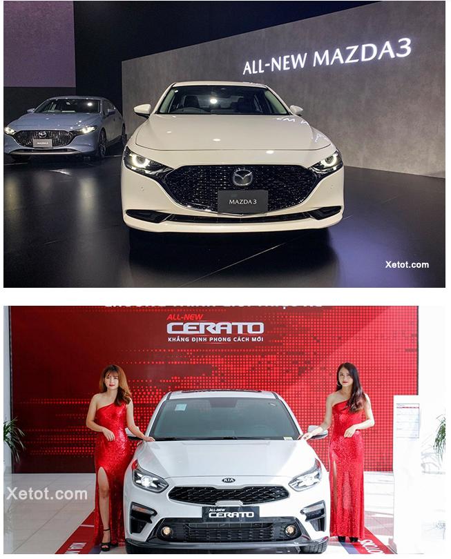 1 - So sánh Mazda 3 2020 sedan và Kia Cerato 2020 (2 bản Full Option)