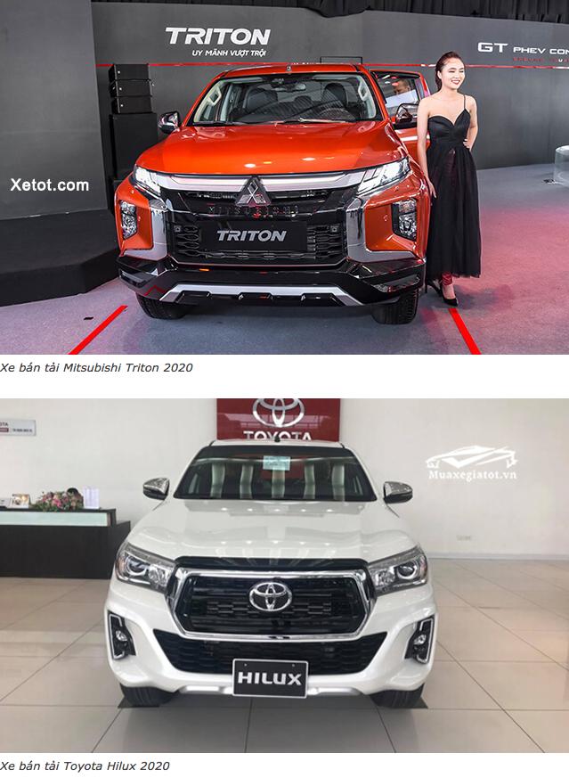 15 - So sánh Toyota Hilux 2020 và Mitsubishi Triton 2020 (2 Bản Full Option)