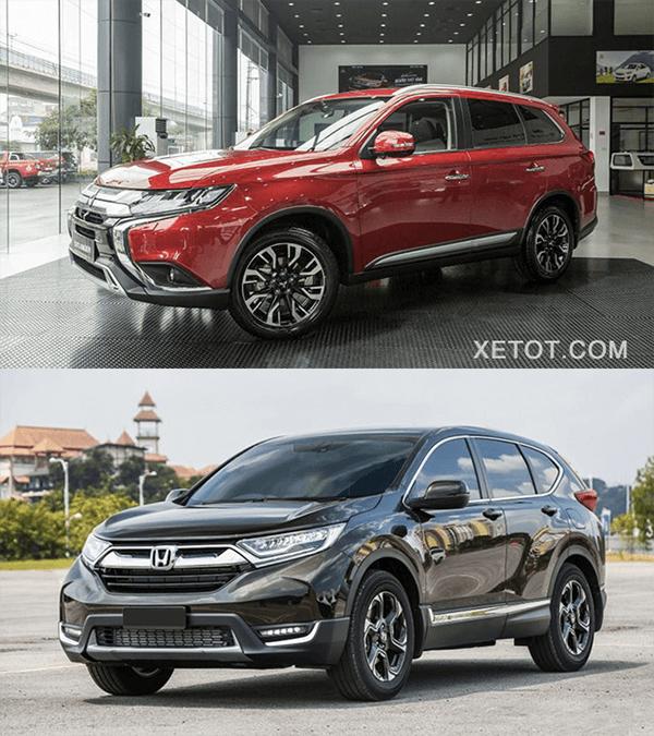 So sánh Mitsubishi Outlander 2020 và Honda CR-V 2020 - 1