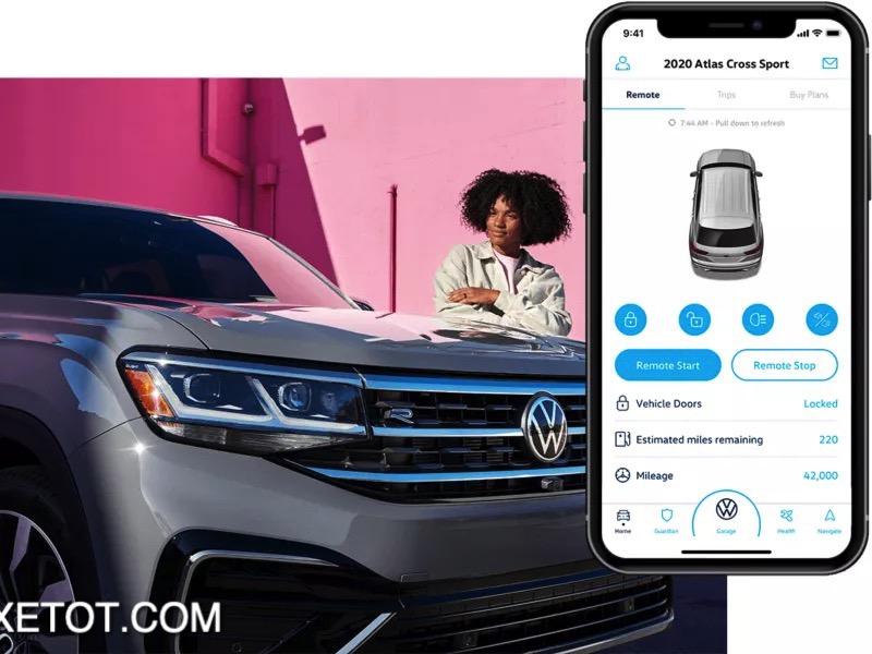 khoi dong tu xa Volkswagen Teramont 2021 XETOT COM - Những điểm nổi bật trên Volkswagen Teramont 2021 sắp bán tại Việt Nam