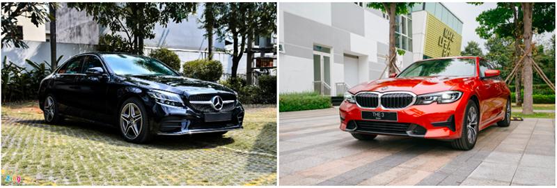 mercedes benz c180 amg hay bmw 320i sport line giaxehoi vn 6 800x270 1 - Mua xe sang giá rẻ chọn Mercedes-Benz C180 AMG hay BMW 320i Sport Line?