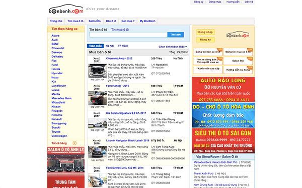 bonbanh com - Top 10 trang web mua bán xe ô tô cũ uy tín và hiệu quả