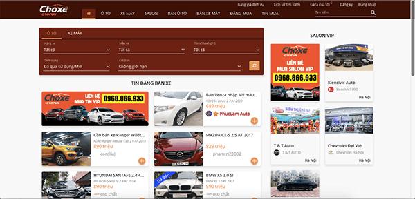 choxeotofun net - Top 10 trang web mua bán xe ô tô cũ uy tín và hiệu quả