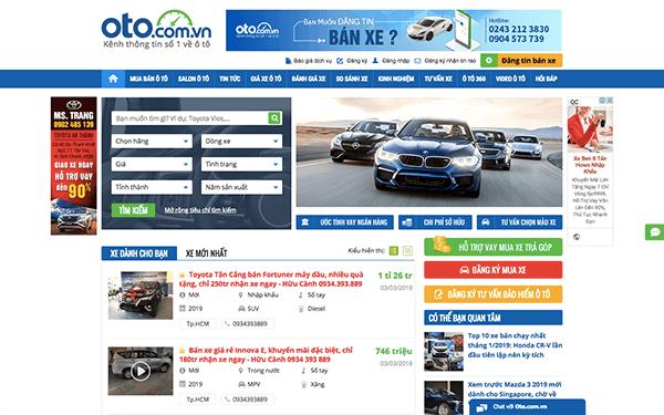 oto com vn - Top 10 trang web mua bán xe ô tô cũ uy tín và hiệu quả
