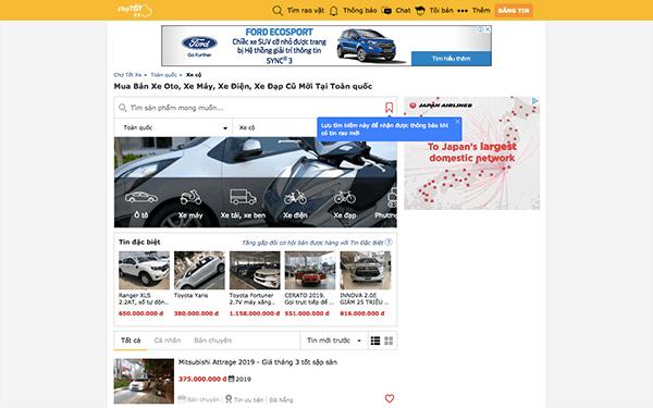 xe choto com - Top 10 trang web mua bán xe ô tô cũ uy tín và hiệu quả