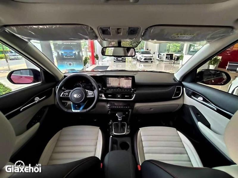 "noi that xe kia seltos 16 premium 2021 2022 giaxehoi vn - So sánh Kia Sonet 2022 và Kia Seltos 2022: Đại chiến ""gà nhà"""